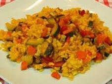 Receta arroz verduras horno