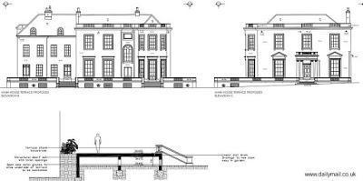 Casa de campo inglesa al norte de Londres.