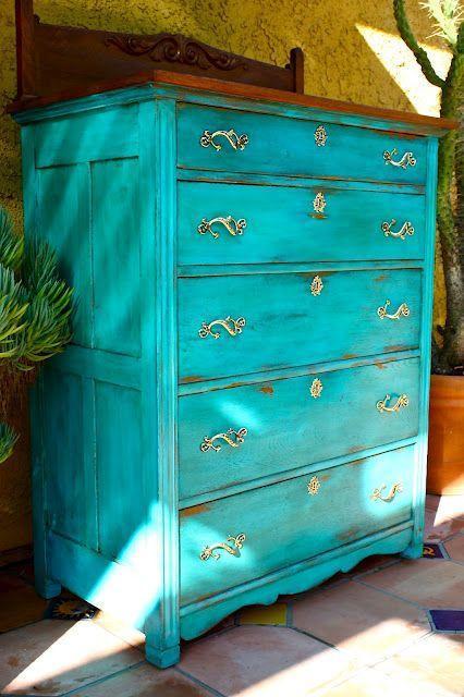 Muebles de colores pintados dise os arquitect nicos - Disenos muebles pintados ...