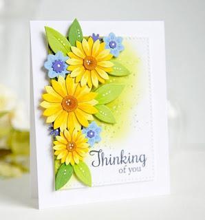 Tarjetas con flores de protagonistas  Handmade Greeting Cards