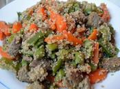 Quínoa seitán verduras