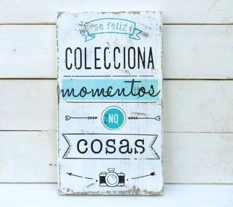 Carteles de madera para decorar nuestra casa paperblog - Carteles publicitarios originales ...