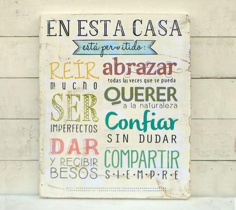 Carteles de madera para decorar nuestra casa paperblog for Ideas lindas para decorar la casa