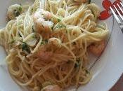 Espaguetis gambas ajillo