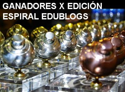 ¡Este año tenemos peonza! Ganadores de la X edición Espiral Edublog