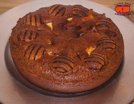 BROWNIE DE CHOCOLATE CON GALLETAS DE ALMENDRAS, CHOCOLATE BLANCO Y SNICKERS (OLLA GM)
