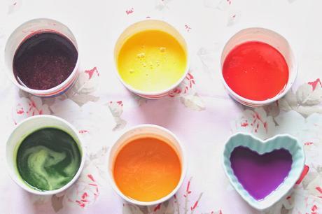 Confeti casero de color pastel (Homemade sprinkles) Fideos de azúcar de colores