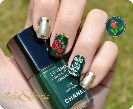 Nail Art - La Bella y la Bestia - ELYT