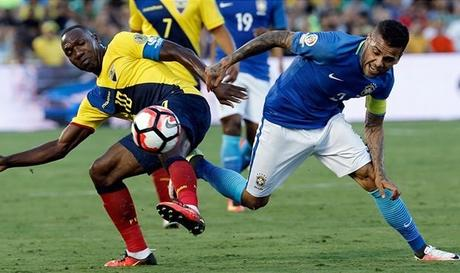 Brasil  0-0 Ecuador en la Copa América Centenario