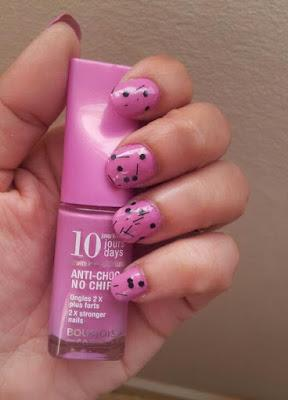 Manicura  Rosa a Topos