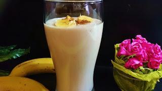 Batido de chocolate,plátano y menta
