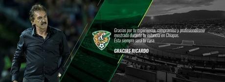 Ricardo La Volpe deja Chiapas