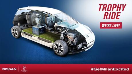 Nissan y sus vehículos cero emisiones en la UEFA