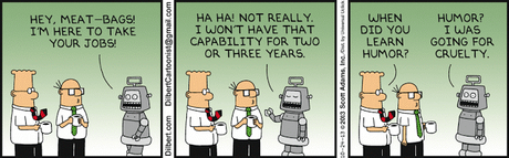La robótica enviará a millones de trabajadores al paro. ¡Qué coticen los robots!