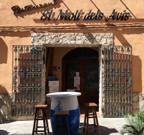 Fachada restaurant El Moli dels avis bacoyboca
