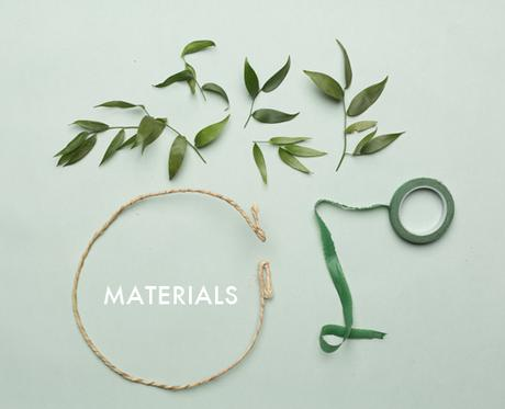 materiales para una corona de flores handmade