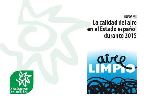 Informe de Ecologistas en Acción: La calidad del aire en el Estado español durante 2015
