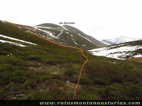 Las Barrosas y subida por la ladera hacia el Cueto El Fraile