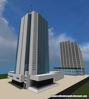 Réplica Minecraft de la Torre de Cali, Cali, Colombia.