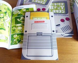 Contraportada del cómic Gameboylands, similar a la consola.