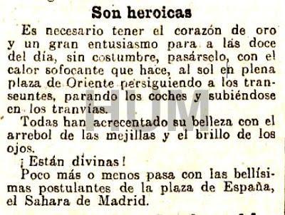 Madrid, cien años atrás. Fiesta de la Flor