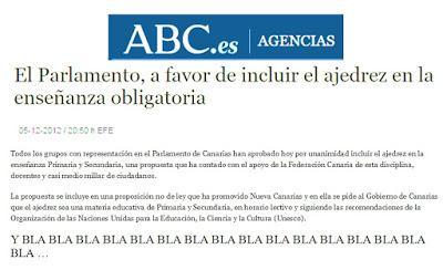 """Sobre el Congreso celebrado en Tenerife """"El Ajedrez, herramienta educativa en el aula"""" (XIV)"""