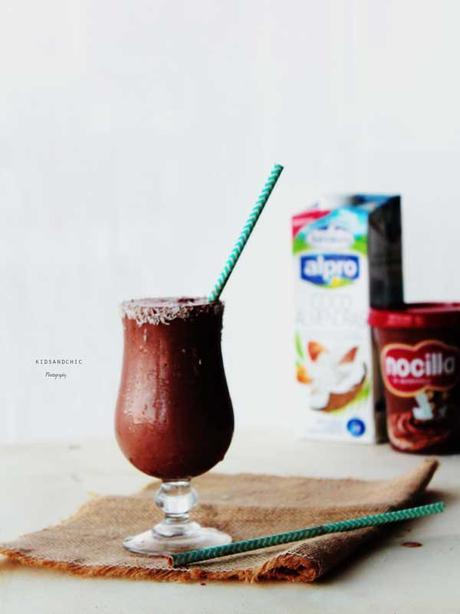 Smothie de nocilla y leche de coco #singluten