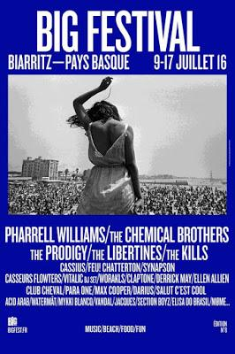 Big Festival 2016: Pharrell Williams, The Chemical Brothers, The Prodigy, The Libertines, The Kills...