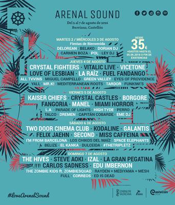 Fangoria sustituyen a The 1975 en el Arenal Sound 2016