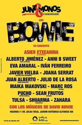 Dos conciertos en Madrid y Barcelona para rendir tributo a David Bowie