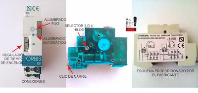 partes de un reloj automático de escalera de carril