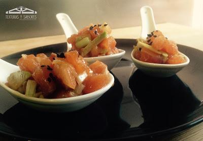 Cucharitas de salmón marinado