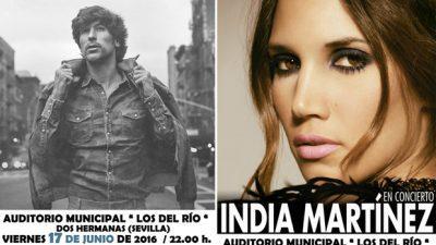 Lombo e India en concierto
