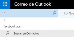 utilizar el nuevo buscador de Outlook.com