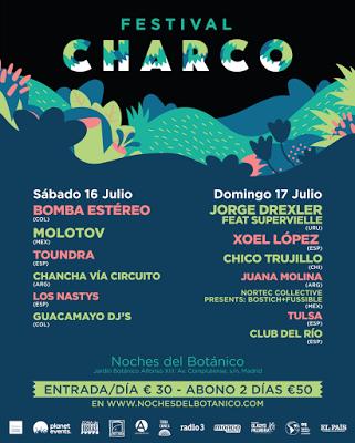 Festival Charco 2016: Bomba Estéreo, Xoel López, Molotov, Jorge Drexler, Toundra, Chico Trujillo, Tulsa...