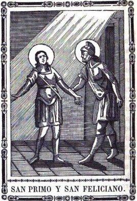 Santos Primo y Feliciano de Roma.