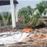 Video: Torbellino derriba árboles y bardas en Villa de Zaragoza,SLP