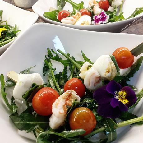 Flores en tu plato.