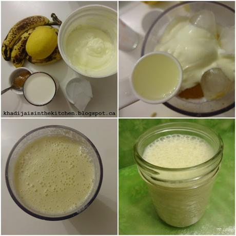 SMOOTHIE BANANE ET CITRON / BANANA LEMON SMOOTHIE / BATIDO DE PLATANO Y LIMON / عصير الموز و الليمون