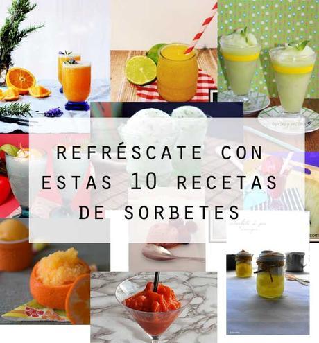 10 recetas  refrescantes de sorbetes