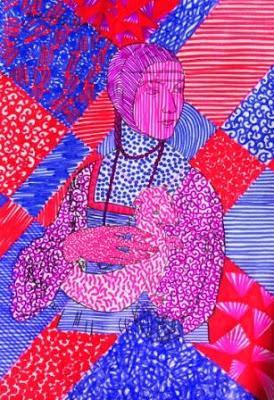 Intervención de imágenes de obras de arte con Zentangle
