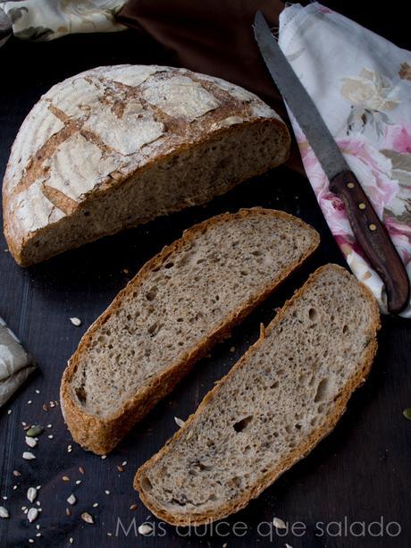 Pan multicereales con semillas