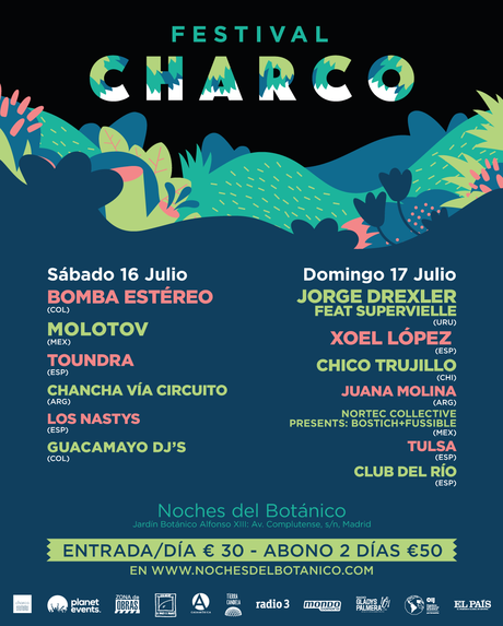 Festival Charco 2016, cartel completo