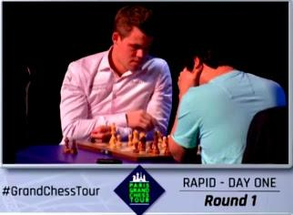 "Magnus Carlsen en el París Grand Chess Tour (1ª y 2ª ronda a 25' + 10"")"
