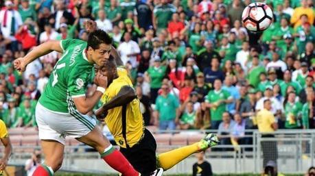 México derrotó a Jamaica 2-0 y avanzó a cuartos de final