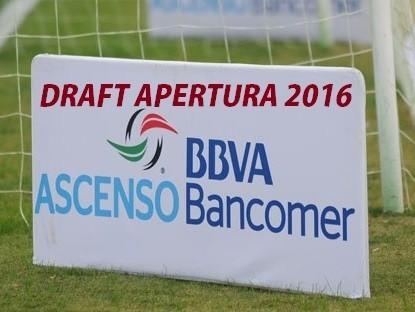 Movimientos del Draft del Ascenso MX del Apertura 2016