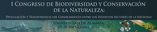 Participamos en el I Congreso de Biodiversidad y Conservación de la Naturaleza