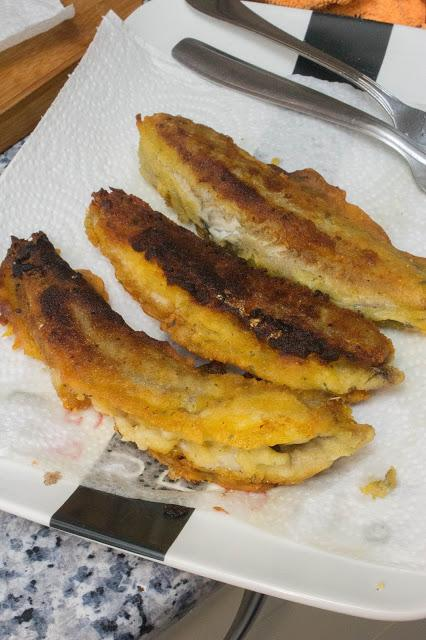 Bacalaitos rebozaos sin gluten ni huevo
