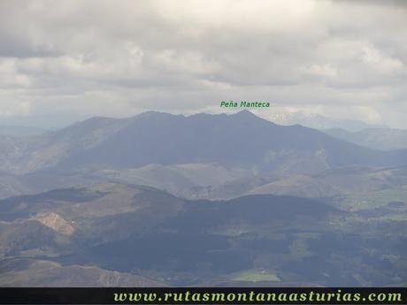 Vista de Peña Manteca desde el Panchón