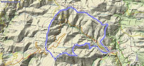 Mapa de la ruta Panchón Pola de Allande